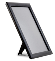 <li> Snap frame black<br><li> With or without foot<br><li> Light weight plastic back<br><li> 25 mm profile