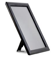 <li> Plastic snap frame aluminum profiles in solid black<br><li> 14 mm profile width