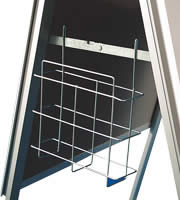 <li> All boards have galvanised backing and mitred corners<br><li> Optional: headerboard and brochure basket<br><li> Easy to open snap frame includes anti-reflex cover