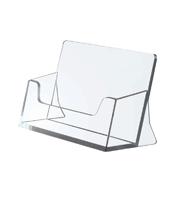 <li> Acrylique transparent<br><li> Convient pour cartes de visite