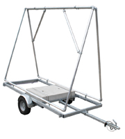 <li> Directly in front of the target parking.<br><li> Strong trailer with two Easyflex banner frames.