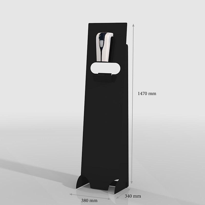 Desinfectie dispenser zuil zwart