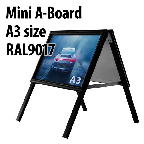 Mini A-board A3 zwart