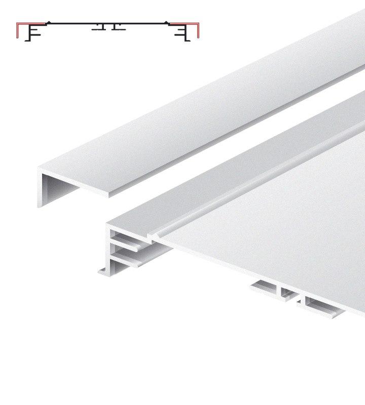 Standard-Profil für Leuchtkästen, 200 mm breit, mit losem Abdeckrahmen eloxiert