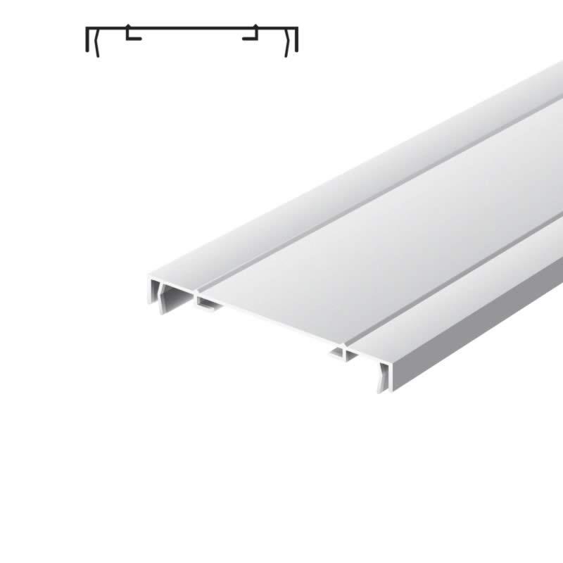 Light advertising profile 170 mm 2 frames brut