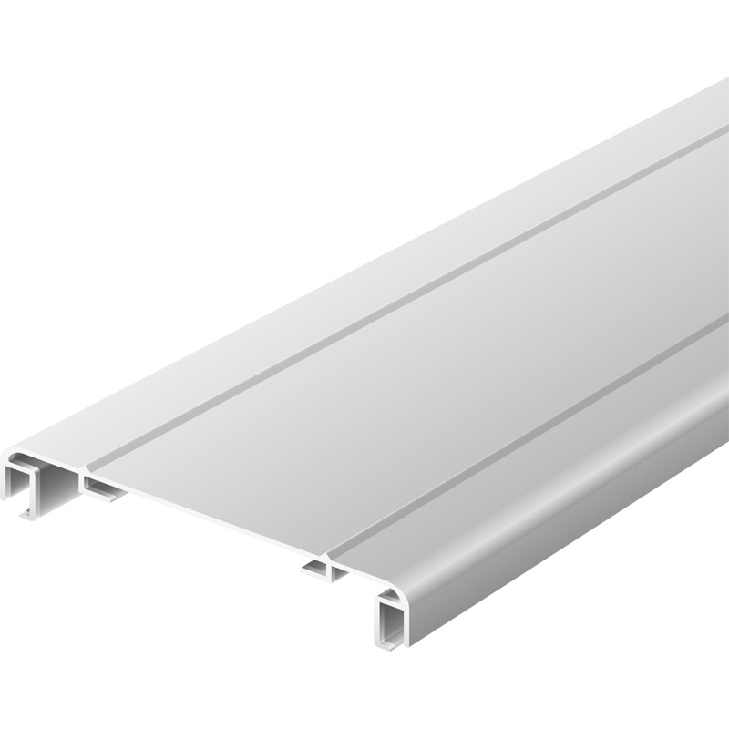 Light advertising profile 200 mm 2 frames anodized
