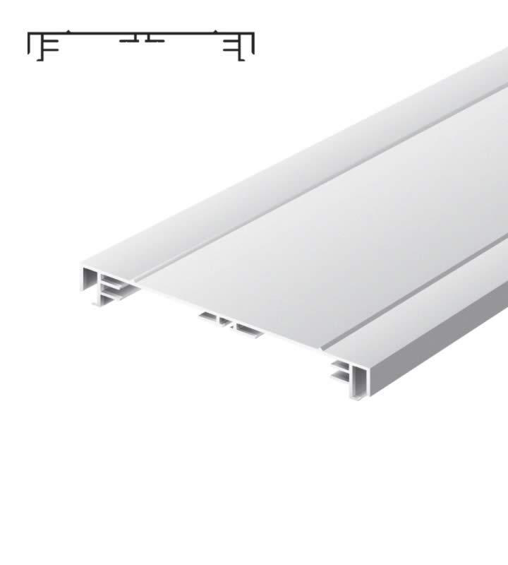 Light advertising profile 200 mm 2 frames brut