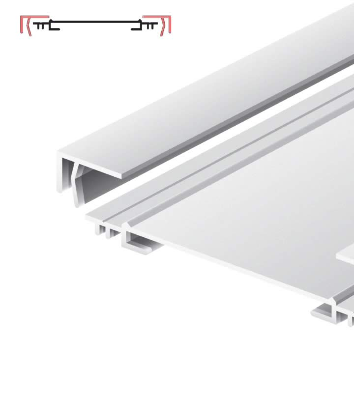 Light advertising profile 170 mm anodized