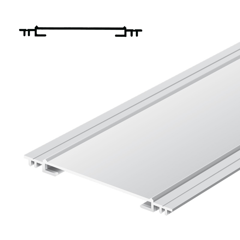 Light advertising profile 170 mm standard without frames anodized