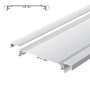 Standard-Profil für Leuchtkästen, 200 mm breit, ohne Standard/Softline-Abdeckrahmen eloxiert