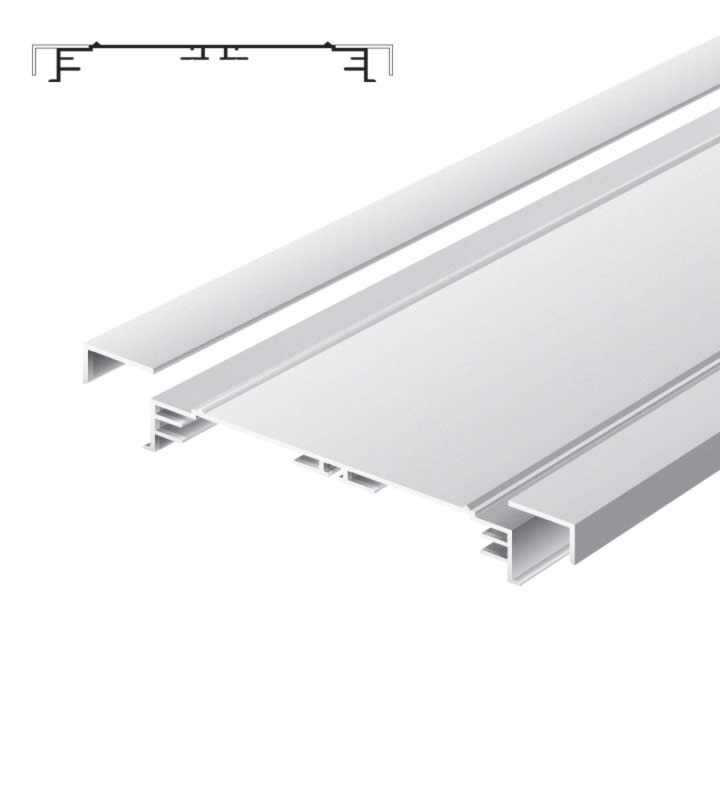 Light advertising profile 200 mm standard without frames anodized