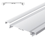 Light advertising profile 200 mm standard without frames brut
