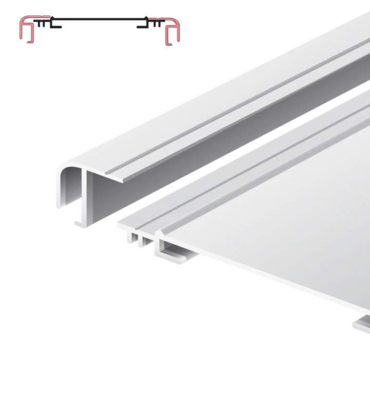 Light advertising profile 170 mm softline loose frame anodized