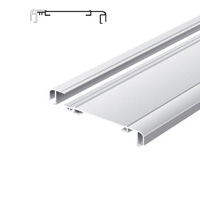 Light advertising profile 170 mm softline with 1 frame anodized