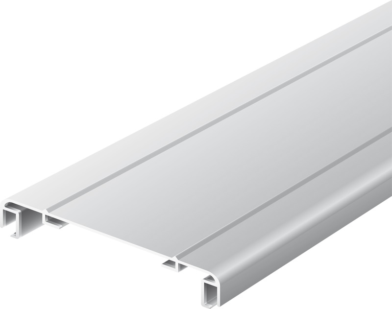 Light advertising profile 170 mm softline with 2 frames anodized