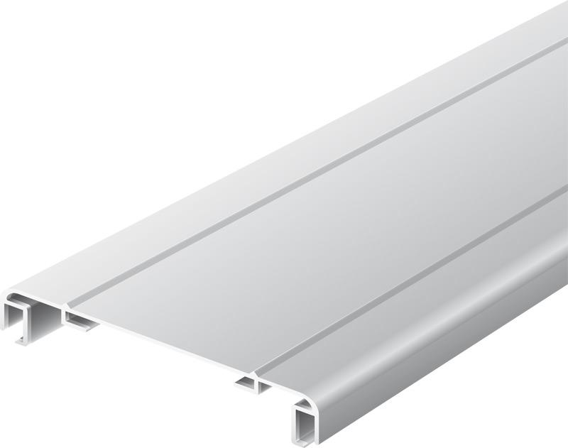 Softline-Profil für Leuchtkästen 170 mm, mit zwei Abdeckrahmen eloxiert