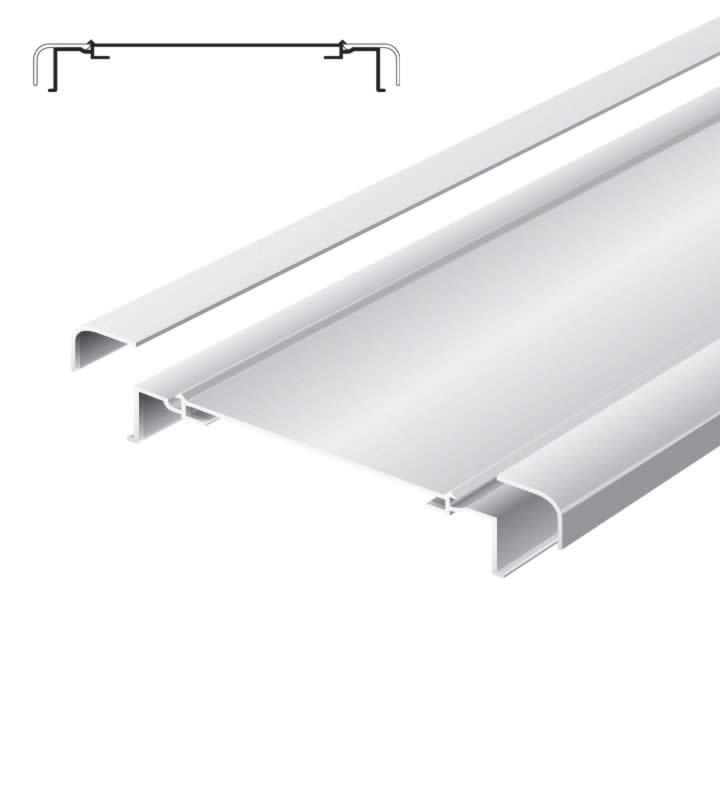 Light advertising profile 200 mm softline without frame anodized