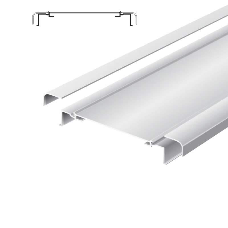 Light advertising profile 200 mm softline without frame brut