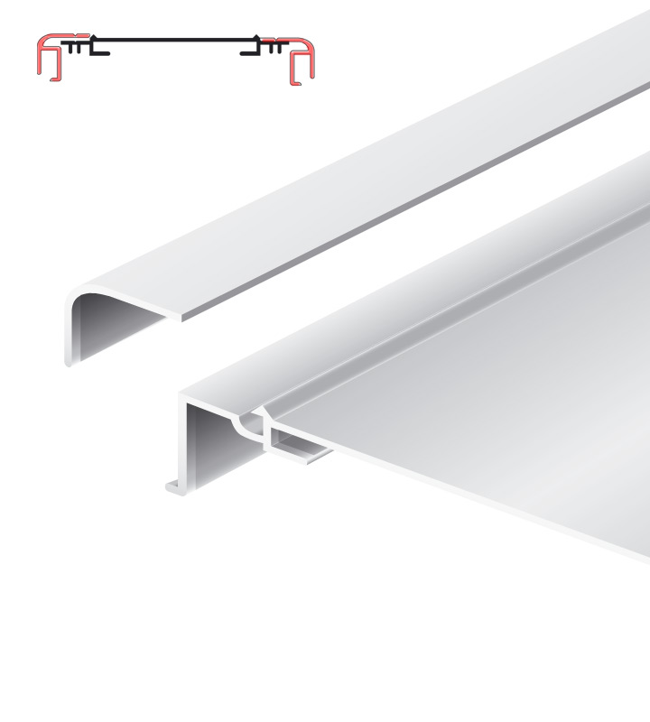 Light advertising profile 200 mm softline loose frame anodized