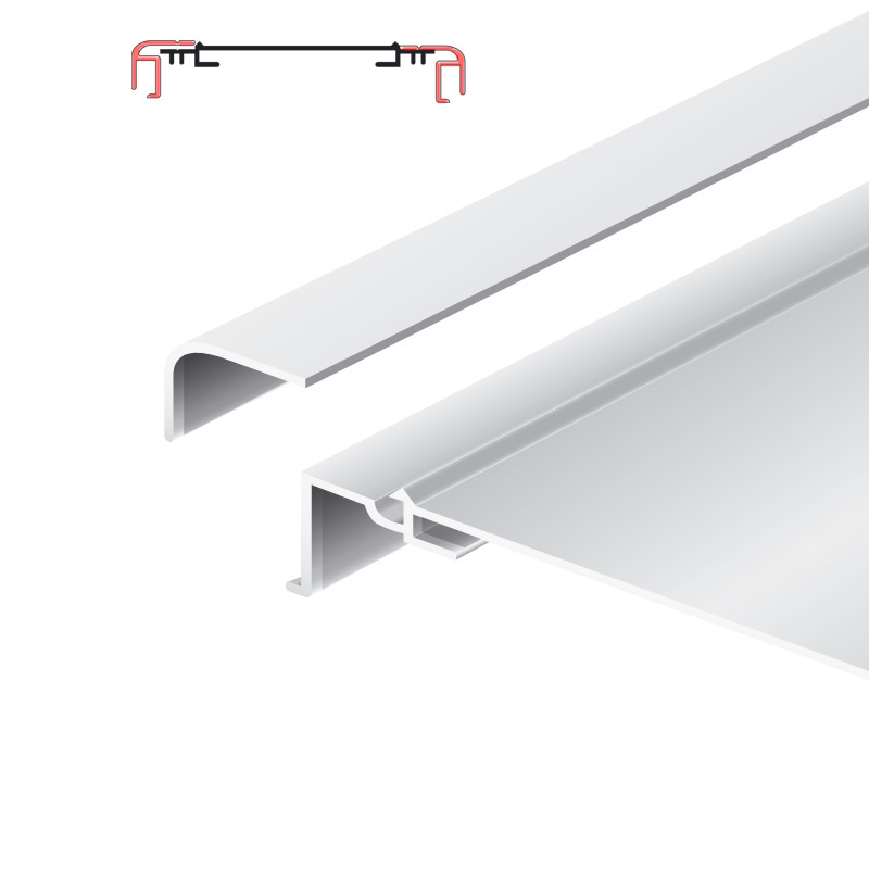 Lichtreclame profiel 200 mm softline losse lijst Brut