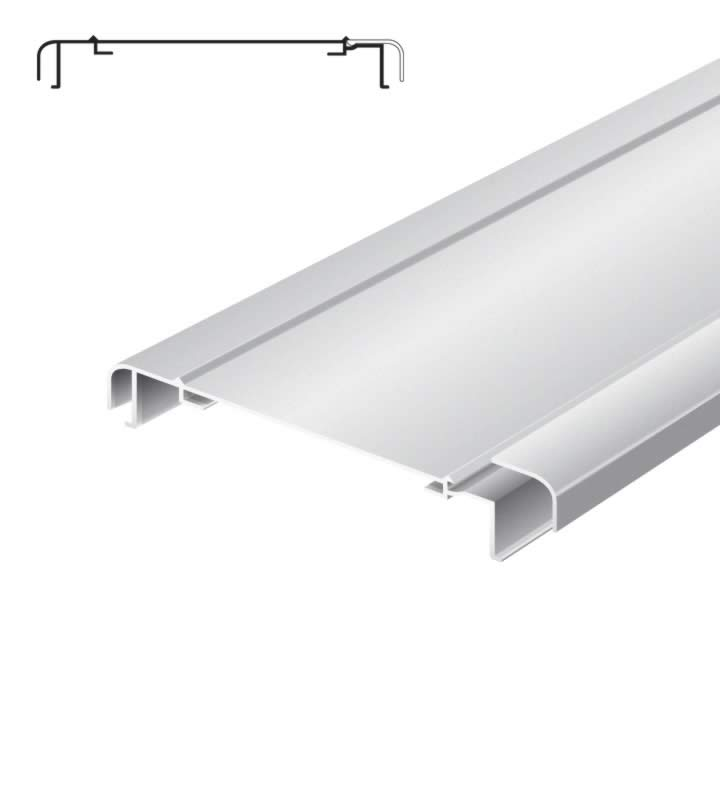 Light advertising profile 200 mm softline with 1 loose frame anodized