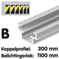 Koppelprofiel lengte 200 mm Brut