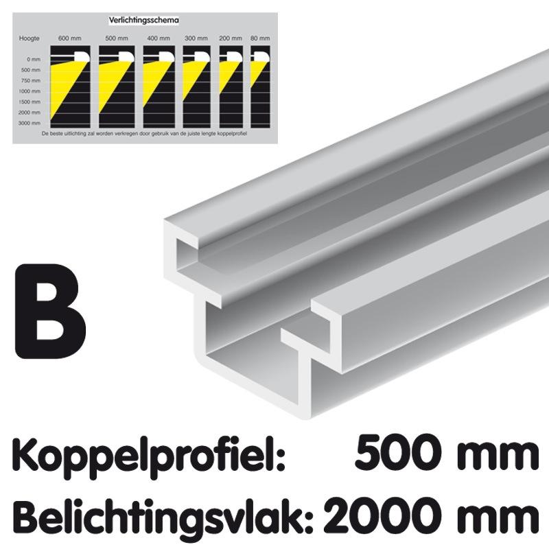 Koppelprofiel lengte 500 mm Brut