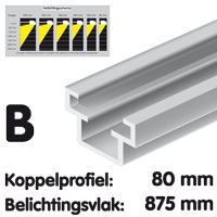 Connection profile 80 mm brut