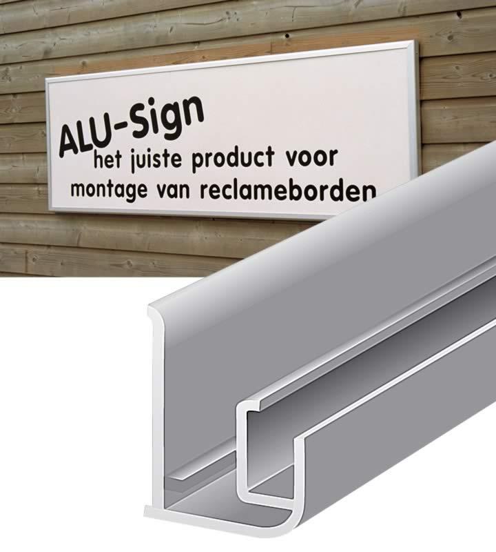 Alu-Sign, mit Oberflächenbehandlung