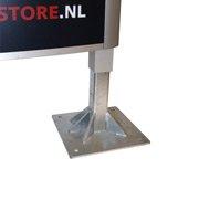 Oval-Sign Fußplatte, verzinkt, Set mit 2 Stück bis Höhe 5000 mm