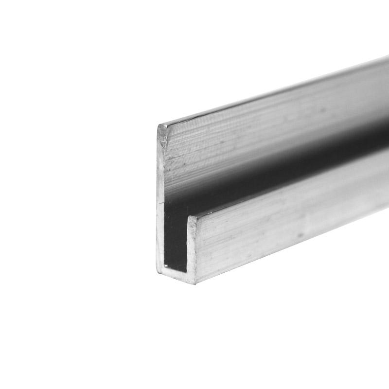 Aluminium U profiel 9x6,5x20x1,25 mm lengte 6000 mm