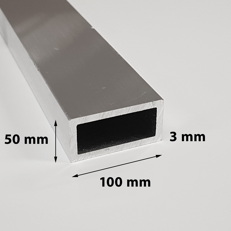 Aluminium profile 100 x 50 x 3 mm