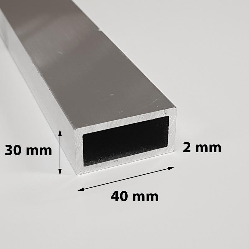 Aluminium profile 30 x 40 x 2 mm