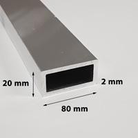 Koker 80 x 20 x 2 mm aluminium