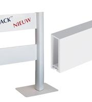 Com-Track Panel 100, 100 x 18 x 2 mm RAL 9016