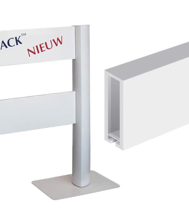 Com-Track panneaux 200 200 x18 x 2mm RAL 9016
