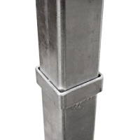 Collapsing tube 60 x 40 x 5 mm galvanized steel