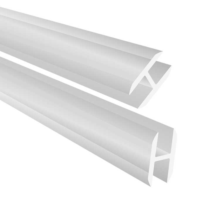 Perspex profile h17 4 mm length 4000 mm opal