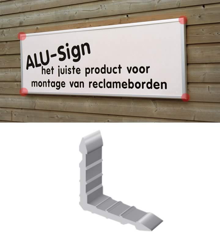 Alu- sign connecteur large 20mm