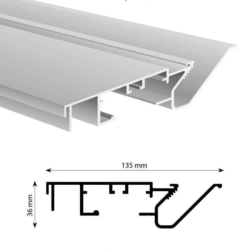 Kaderloos spanprofiel profiel 137 mm