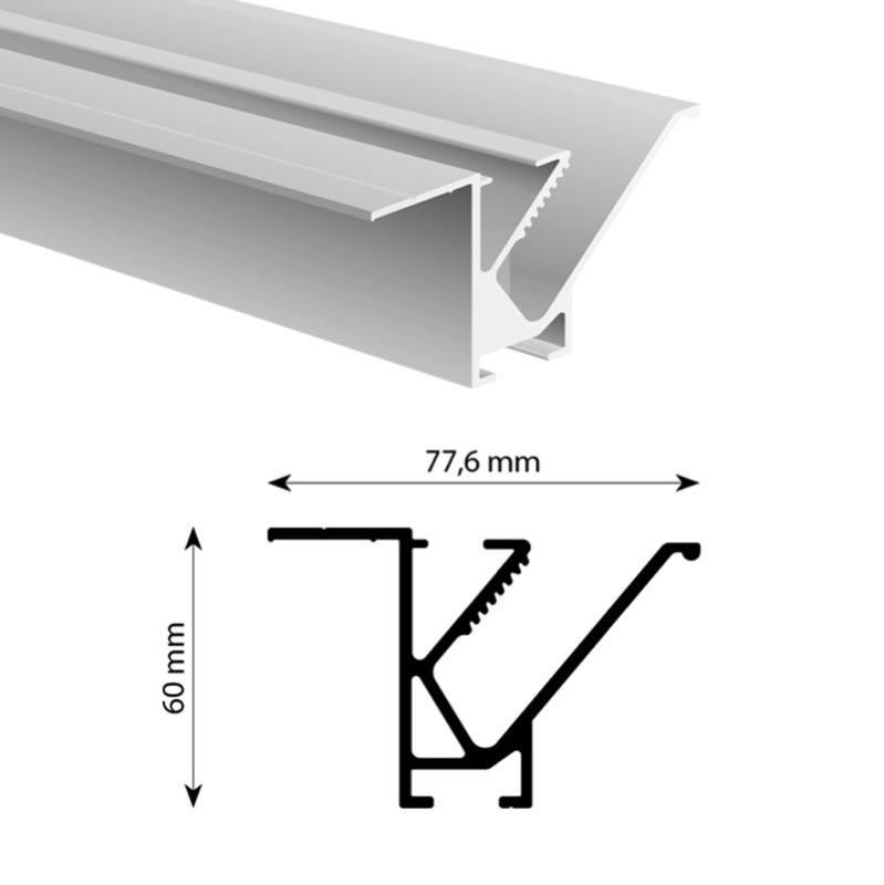 Frameless tension profile profile 81 mm