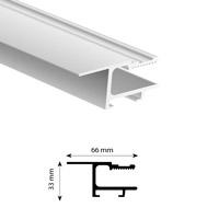 Spanprofiel 66mm lengte 5 meter