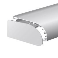 Lichtkoof eindkap nieuwe; geanodiseerd 137,54 x 71,3 x 3 mm