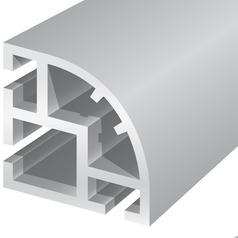 Soft trim round cornerconnector variable 90-270°