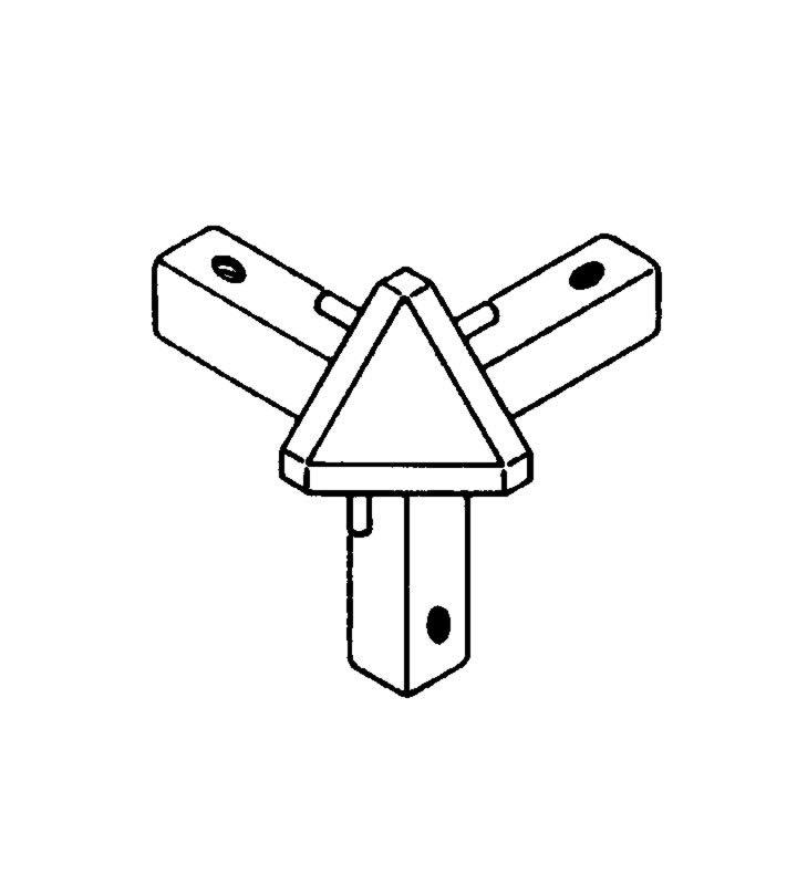 Soft-Trim Eckverbindung 3 x 90 Grad