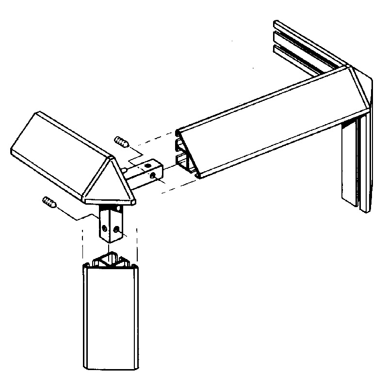 Soft trim cornerconnector straight 90°