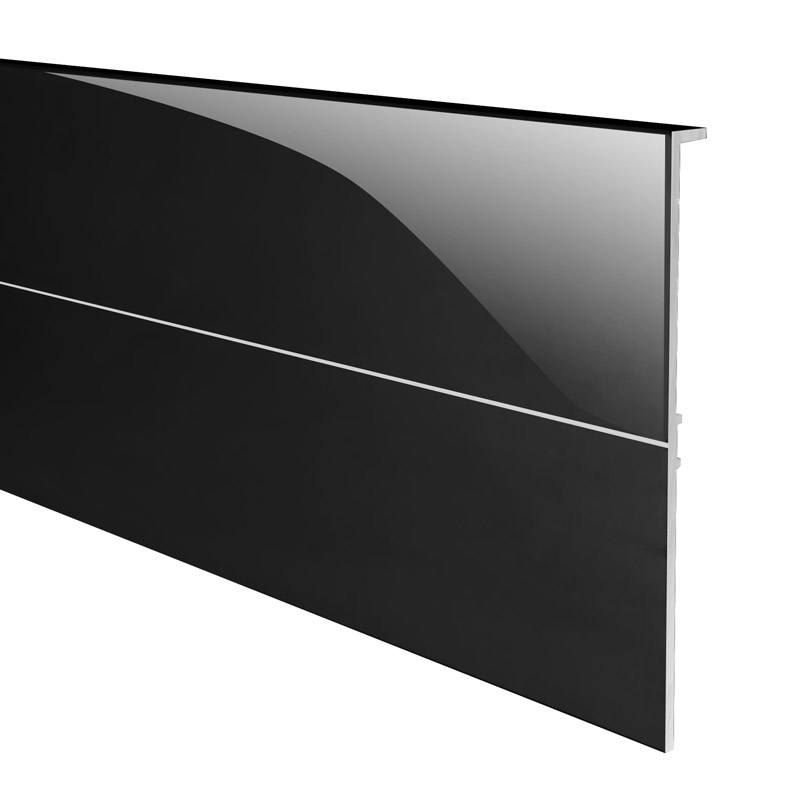 TEX110 afdekprofiel zwart