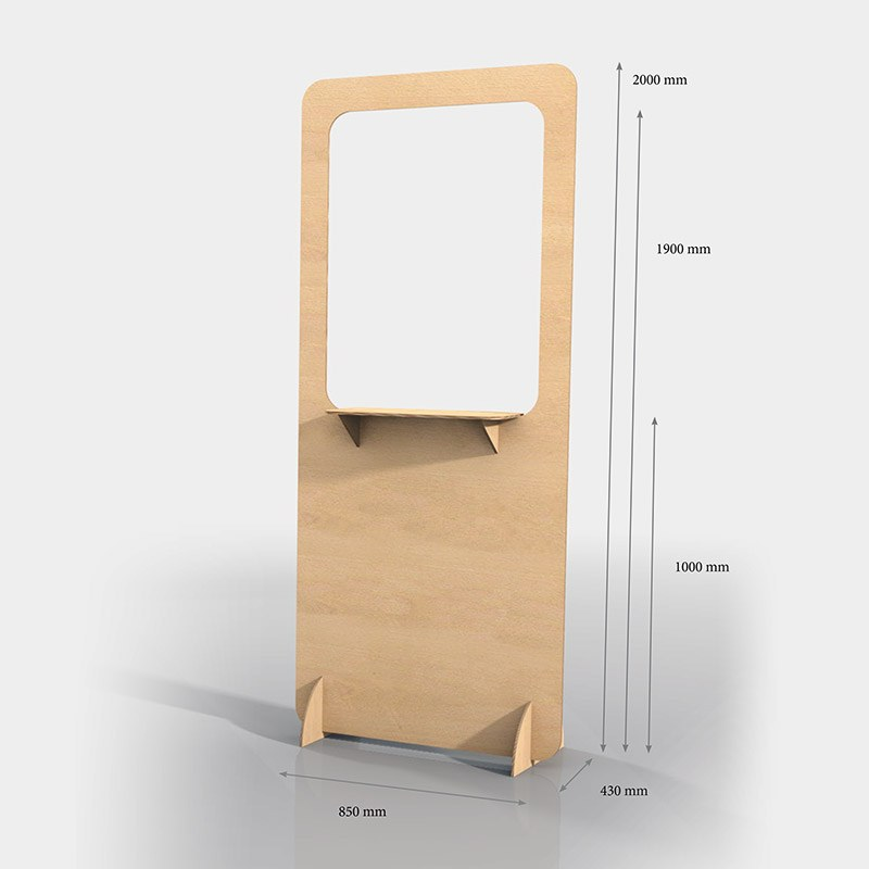 Pick-up counter wood