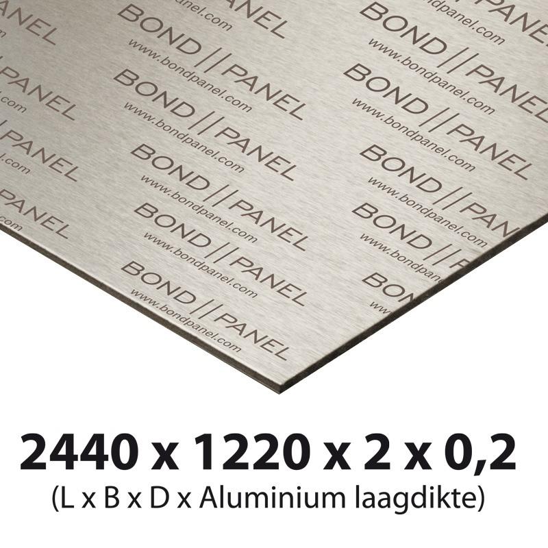 Bond panel plate 2500 x 1250 x 2 mm white