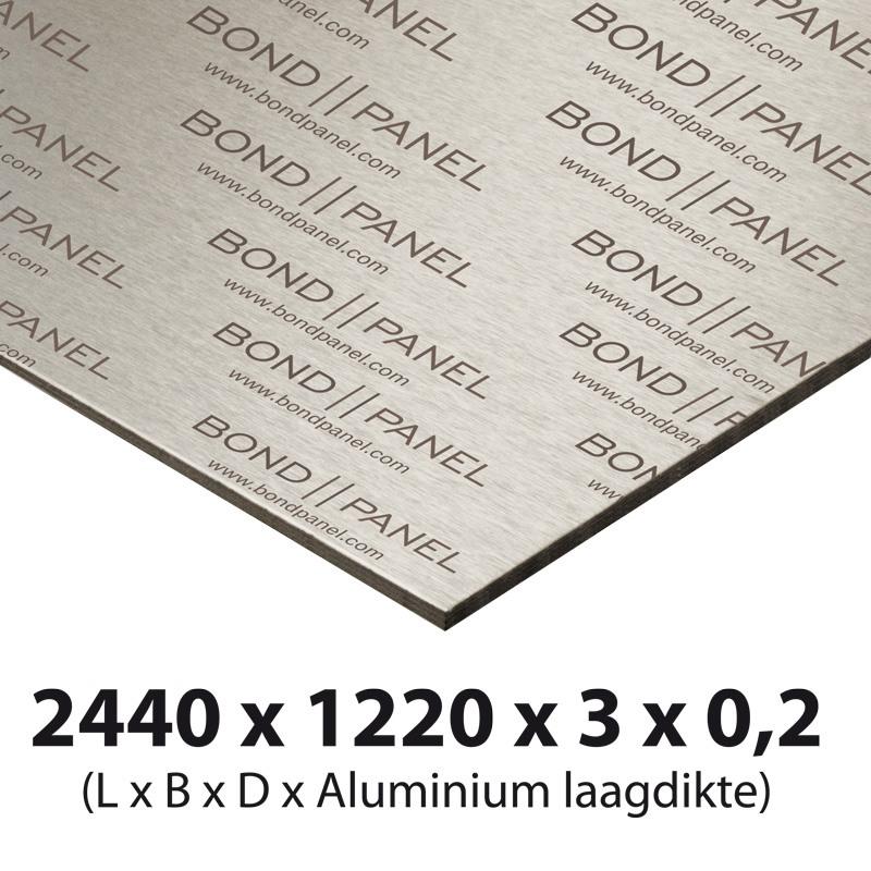 Bond panel plate 2500 x 1250 x 3 mm white